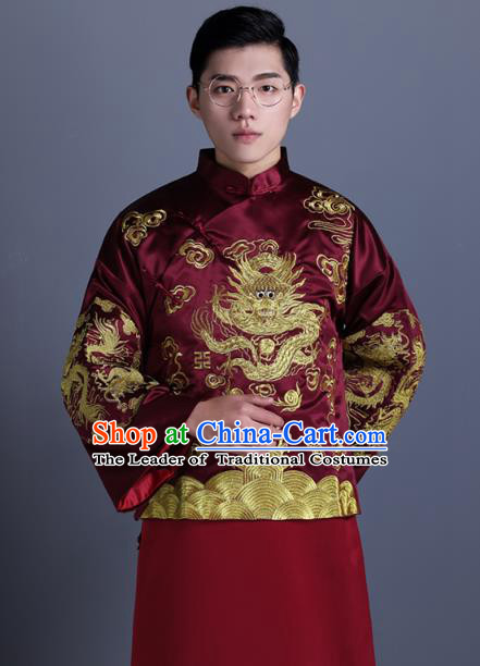 7a6909c2f5901 Ancient Chinese Costume Chinese Style Wedding Dress Ancient Embroidery  Dragon Flown