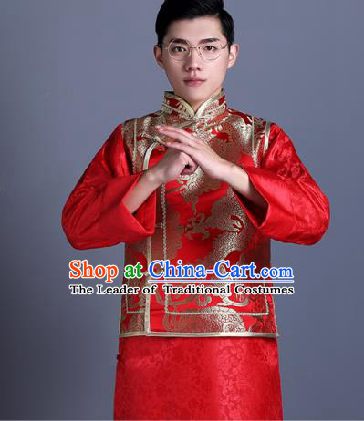 c880769059a88 Ancient Chinese Costume Chinese Style Wedding Dress Ancient Embroidery  Dragon Vest