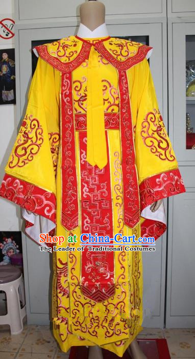 Top Grade Professional Beijing Opera Emperor Costume Embroidered Robe Gwanbok, Traditional Ancient Chinese Peking Opera Royal Highness Embroidery Clothing