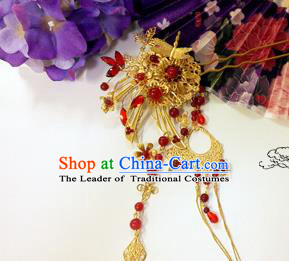 Traditional Handmade Chinese Ancient Classical Hair Accessories Tassel Hairpin, Hanfu Hair Jewellery Hair Fascinators Hairpins for Women