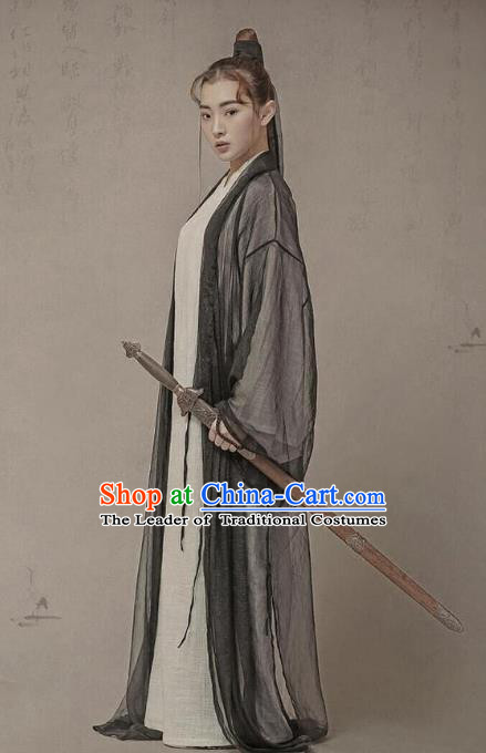 Traditional Ancient Chinese Swordswoman Costume, Elegant Hanfu Clothing Chinese Han Dynasty Chivalrous Women Dress