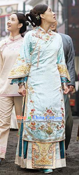Traditional Chinese Qing Dynasty Young Mistress Costume, Elegant Hanfu Clothing Chinese Ancient Republic of China Young Dowager Embroidery Xiuhe Suit Clothing