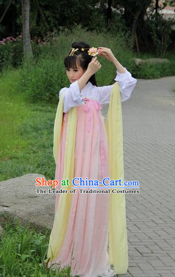 Traditional Chinese Tang Dynasty Palace Lady Costume, Elegant Hanfu Clothing Chinese Ancient Fairy Princess Dress Clothing for Women