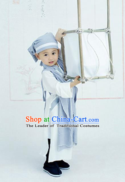 Traditional Chinese Han Dynasty Nobility Childe Costume, Children Elegant Hanfu Clothing Chinese Ancient Scholar Clothing fir Kids
