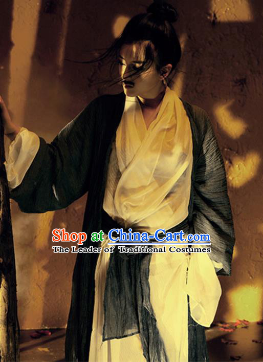 Traditional Chinese Ancient Swordsman Costume, Chinese Ancient Kawaler Clothing for Men