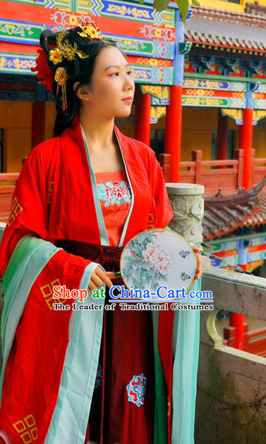 Ancient Chinese Costume Chinese Style Wedding Dress Tang Dynasty hanfu princess wedding Clothing