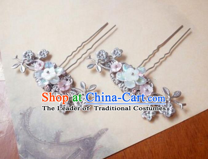 Traditional Handmade Chinese Ancient Classical Palace Lady Hair Accessories, Hair Sticks Hair Jewellery, Hair Fascinators Plum Blossom Hairpins for Women