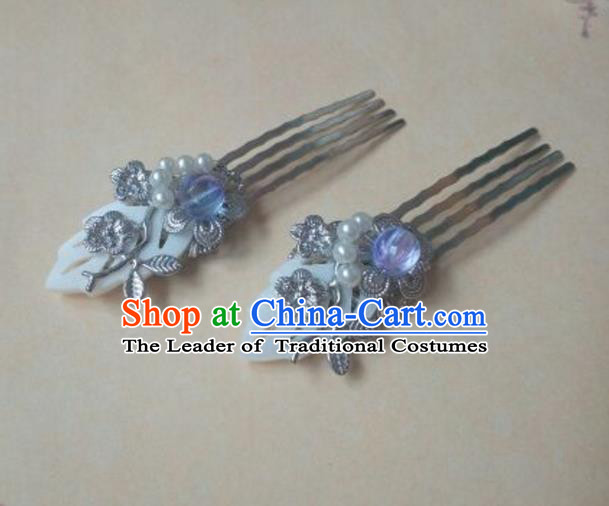 Traditional Handmade Chinese Ancient Classical Hair Accessories Hairpins Shell Hair Comb for Women