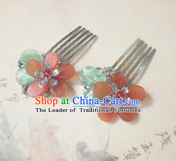 Traditional Handmade Chinese Ancient Classical Hanfu Hair Accessories Hair Comb, Princess Palace Lady Hairpins for Women