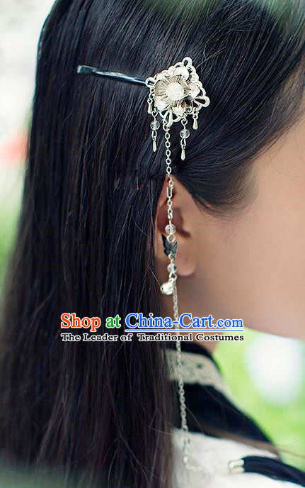 Chinese Handmade Classical Accessories Bride Tassel Hair Claw, China Xiuhe Suit Hair Stick for Women