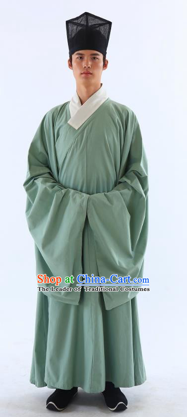 Traditional Asian China Ming Dynasty Costume Chinese Ancient Hanfu Officer Scholar Long Robe Green Priest Frock for Men  sc 1 st  China-Cart : priest robe costume  - Germanpascual.Com