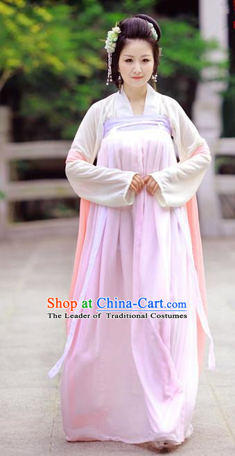Traditional Chinese Ancient Palace Lady Costume, Asian China Tang Dynasty Imperial Concubine Embroidered Skirts for Women