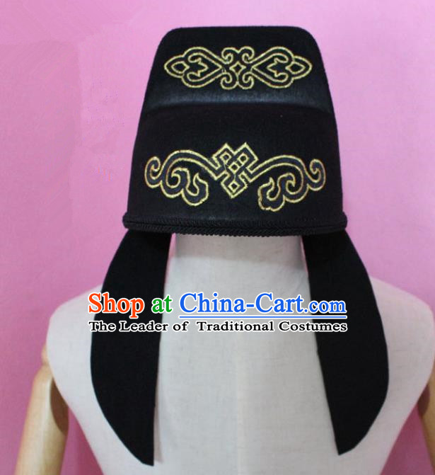Traditional Handmade Chinese Hair Accessories Emperor Headwear, China Tang Dynasty Minister Hats for Men