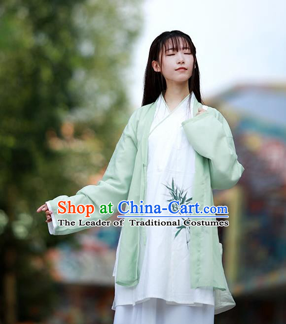 Asian China Ancient Han Dynasty Young Lady Costume Complete Set, Traditional Chinese Princess Hanfu Embroidered Clothing for Women