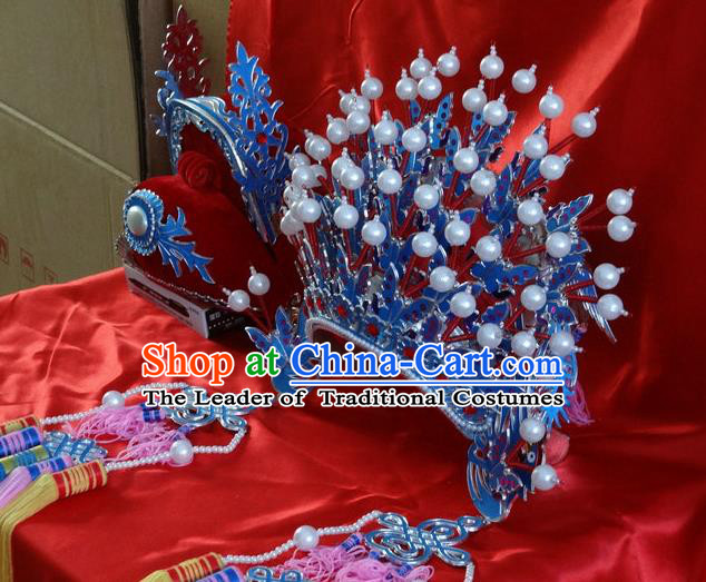 Traditional China Beijing Opera Costume Gifted Scholar Embroidered Robe and Hat Ancient Chinese Peking Opera props