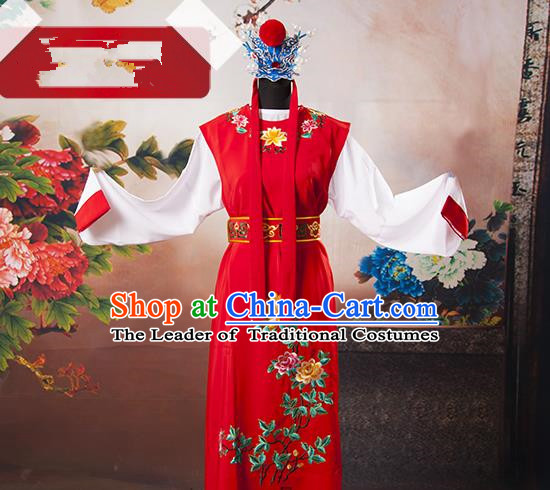 Traditional Chinese Classical Peking Opera Young Men Costume Embroidered Robe, China Beijing Opera Niche Clothing for Men
