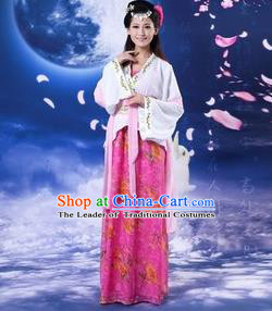 Traditional Ancient Chinese Palace Lady Costume, Asian Chinese Tang Dynasty Imperial Concubine Embroidered Dress Clothing for Women
