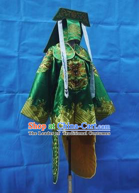 Traditional Chinese Peking Opera Takefu Costume Embroidered Robe, China Ancient Beijing Opera Imperial Bodyguard Gwanbok for Men