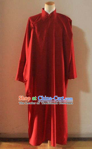 Traditional Ancient Chinese Republic of China Costume Long Robe, Asian Chinese Silk Cross Talk Clothing for Men