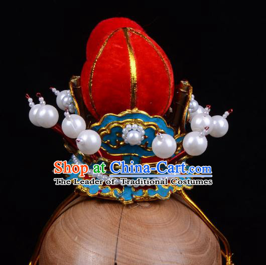 Traditional Beijing Opera Niche Hair Accessories Prince Tuinga, Ancient Chinese Peking Opera Crown Prince Headwear