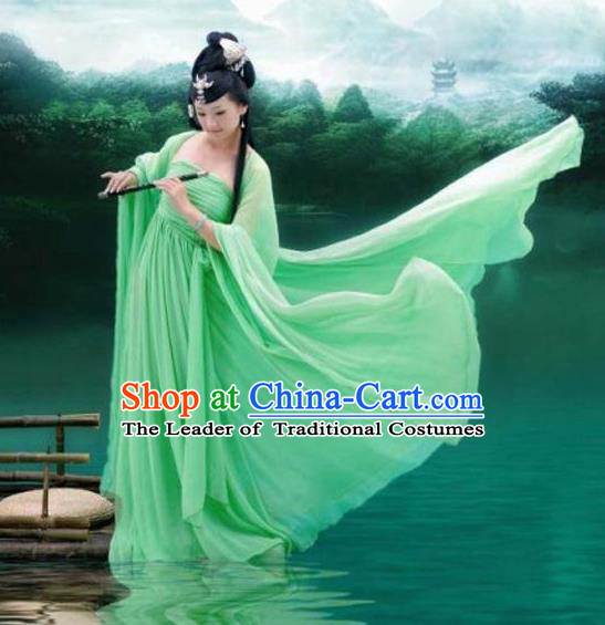Traditional Ancient Chinese Imperial Consort Hanfu Fairy Embroidery Costume, Chinese Tang Dynasty Palace Lady Elegant Dress Clothing