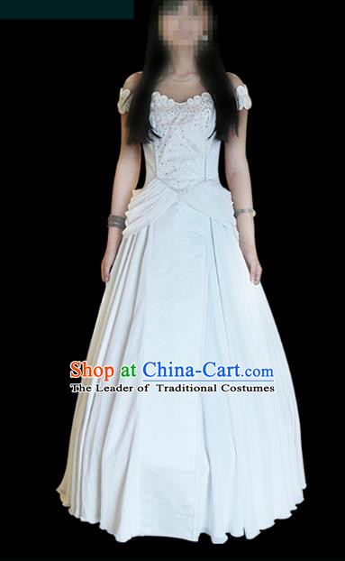Traditional Chinese Dance Costume Female Wedding Dress Bride Veil Dress for Women