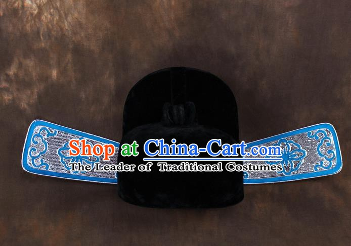Traditional China Beijing Opera County Magistrate Hats, Chinese Peking Opera Niche Headwear