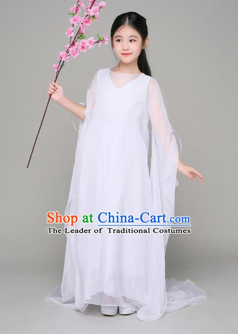 Traditional Chinese Ancient Peri Hanfu Clothing, China Tang Dynasty Palace Princess Costume for Kids