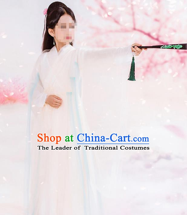 Traditional Chinese Ancient Fairy Costume, China Han Dynasty Palace Lady Hanfu Embroidered Trailing Dress for for Kids