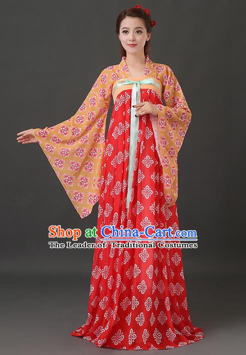 Ancient Chinese Tang Dynasty Palace Lady Costume China Traditional Princess Clothing for Women