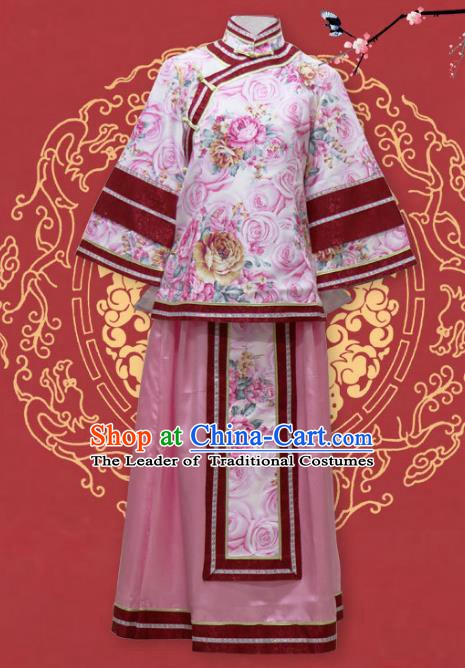 Traditional Chinese Republic of China Nobility Lady Xiuhe Suit Clothing, China National Embroidered Clothing for Women