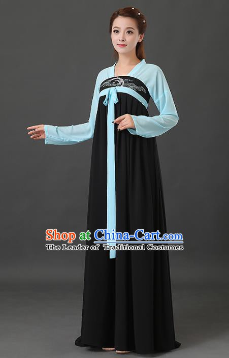 Traditional Chinese Tang Dynasty Court Maid Embroidered Costume, China Ancient Palace Lady Hanfu Dress Clothing for Women