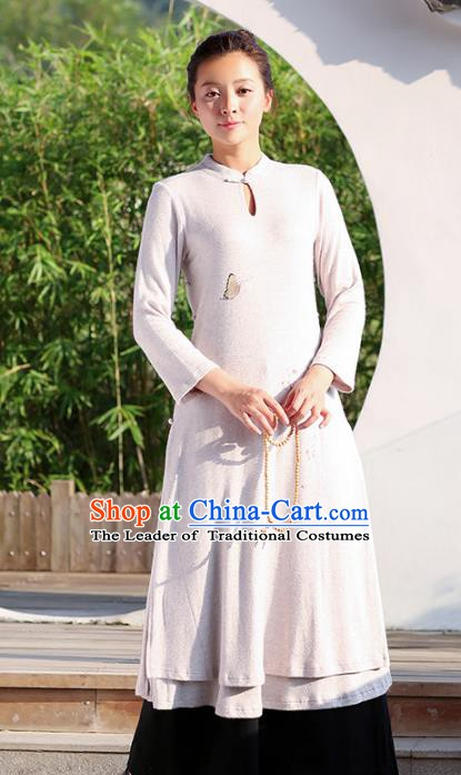Traditional Chinese National Costume Hanfu Stand Collar Qipao Dress, China Tang Suit Cheongsam for Women