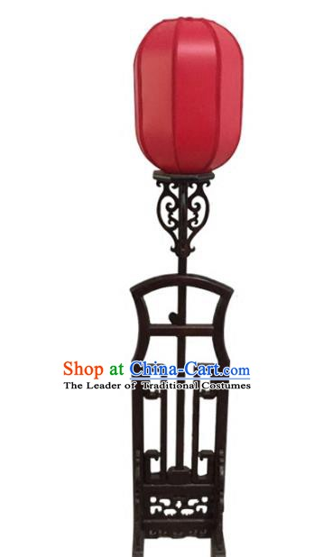 Traditional Chinese Handmade Red Sheepskin Lantern Classical Palace Lantern China Floor Palace Lamp