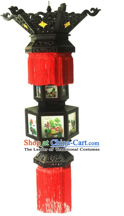 Traditional Chinese Handmade Lantern Classical Dragons Palace Lantern China Ceiling Palace Lamp