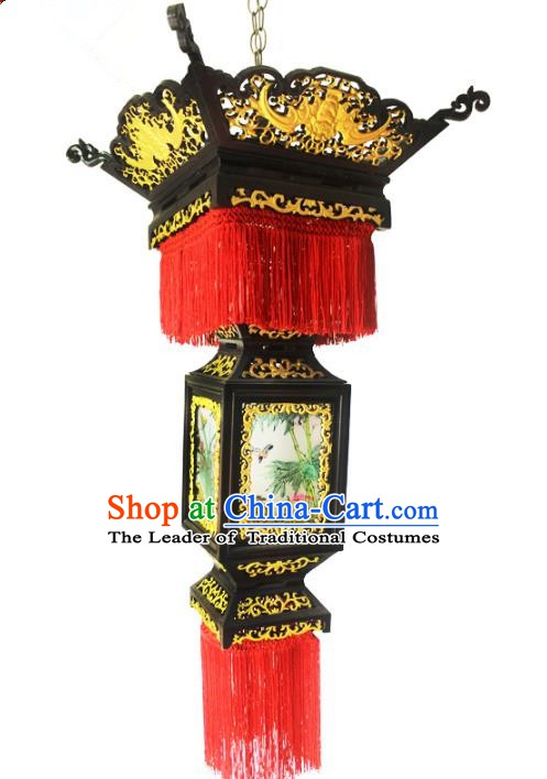Traditional Chinese Handmade Wood Ceiling Lantern Classical Palace Lantern China Palace Lamp