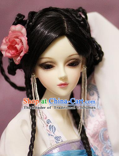 Traditional Handmade Chinese Ancient Palace Lady Hair Accessories Hairpins and Wig for Women