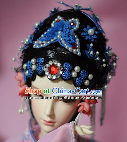 Traditional Handmade Chinese Beijing Opera Actress Hair Accessories Hairpins and Wig for Women
