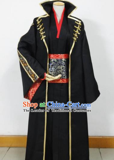 Traditional Chinese Cosplay Ming Dynasty Swordsman Costume Ancient Imperial Bodyguard Clothing for Men