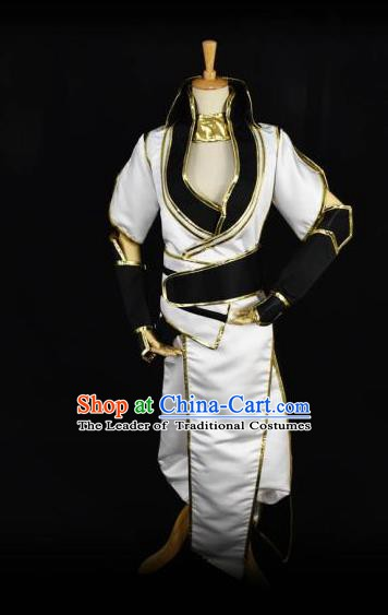 Traditional Chinese Ancient Swordsman Clothing Cosplay Ming Dynasty Zoroastrianism Kawaler Costume for Men
