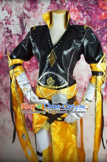 Traditional Chinese Ancient Cosplay Costume Ming Dynasty Swordsman Clothing for Men