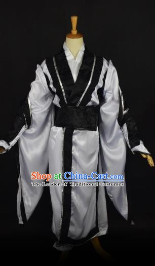 Traditional Chinese Ancient Taoist Costume, China Tang Dynasty Priest Frock for Men