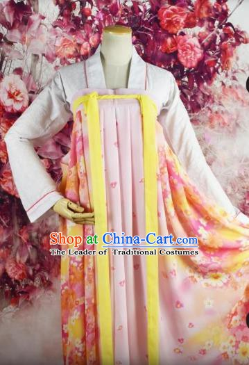 Traditional Chinese Ancient Princess Costume Tang Dynasty Palace Lady Dress Clothing for Women