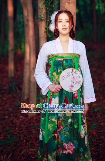 Traditional Chinese Ancient Princess Hanfu Costume Tang Dynasty Palace Lady Dress Clothing for Women