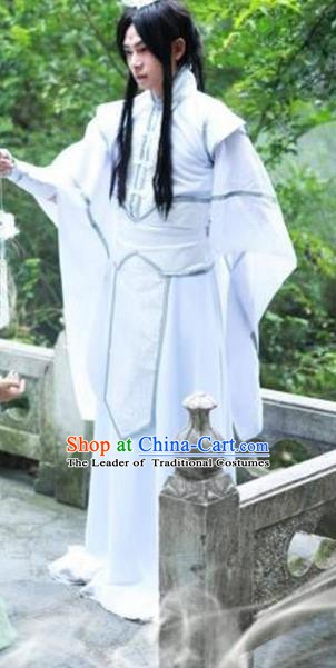 Traditional Chinese Ancient Kawaler Costume, China Tang Dynasty Swordsman Clothing for Men