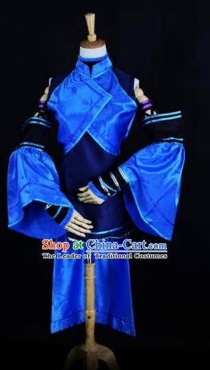 Traditional Chinese Ancient Heroine Hanfu Costume Han Dynasty Swordswoman Clothing for Women