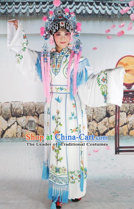 Chinese Beijing Opera Nobility Lady Embroidered Costume, China Peking Opera Actress Embroidery Clothing