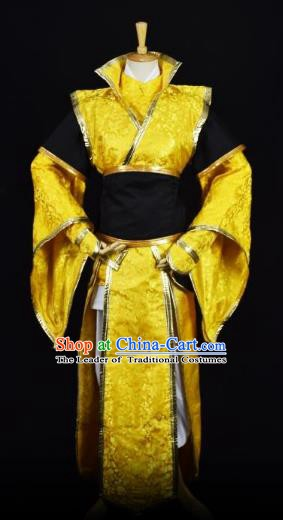 Traditional Chinese Ancient Swordsman Embroidered Costume Tang Dynasty Emperor Clothing for Men