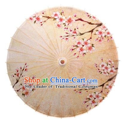 Asian China Dance Umbrella Handmade Classical Printing Flowers Oil-paper Umbrellas Stage Performance Umbrella