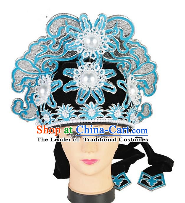 Chinese Beijing Opera Niche Headpiece, China Peking Opera Scholar Hats